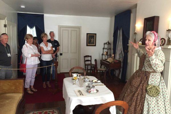 Peggy Breslin and Kate Smith tour the Shriver House
