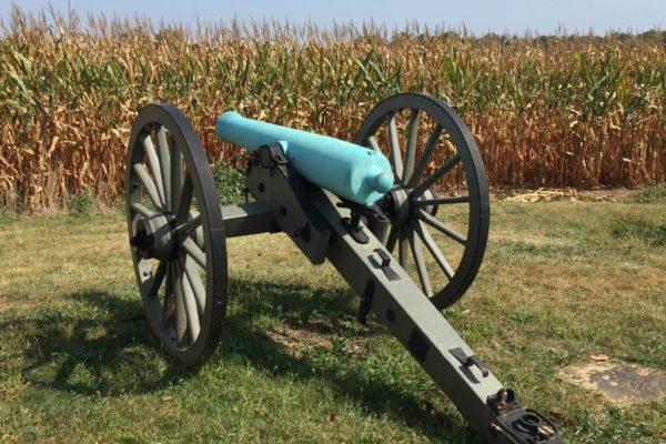 Cannon on Gettysburg Battlefield, which encompasses much farmland